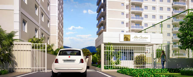Residencial Alto Caxias - Condomínio Clube com Apartamentos 3 e 2 Quartos à venda em Caxias - RJ.