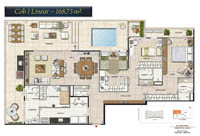 Planta Barra One Carioca Residences 11