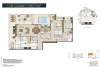Planta Barra One Carioca Residences 12