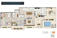 Planta Barra One Carioca Residences 13