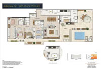 Planta Barra One Carioca Residences 14