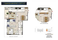 Planta Barra One Carioca Residences 2
