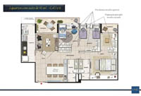 Planta Barra One Carioca Residences 3