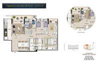 Planta Barra One Carioca Residences 4