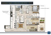 Planta Barra One Carioca Residences 7