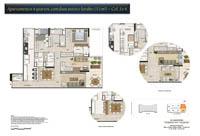 Planta Barra One Carioca Residences 8