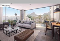 Borges 3647 | Apartamentos 3 e 2 quartos e coberturas dúplex com terraço exclusivo para venda na Lagoa, Zona Sul, Rio de Janeiro - RJ.