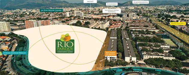 Carioca Residencial - Rio Parque Fase 3 - Apartamentos de 2 e 3 quartos integrados ao Parque Carioca, um Parque Privativo com mais de 5 mil m² de área verde e muitos itens de lazer , além de um mall (Rio Mall) com aproximadamente 3.460 m² de lojas.