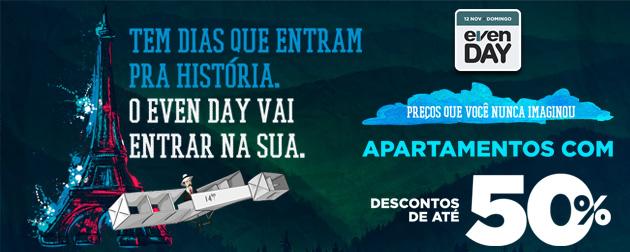 Even Day 2017 - Apartamentos, Coberturas, Salas e lojas comerciais com condições e descontos imperdíveis no Rio de Janeiro - RJ