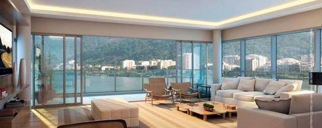 Lagoa View - Apartamentos de 3 Suítes à venda na Lagoa Rodrigo de Freitas, Avenida Epitácio Pessoa, Zona Sul - Rio de Janeiro - RJ