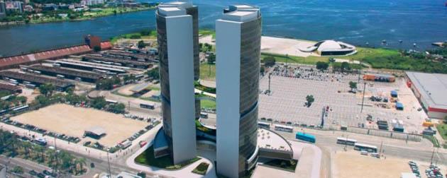 Oscar Niemeyer Monumental  - Lojas, Salas Comerciais, Lajes Corporativas e Unidades Hoteleiras (Ibis Hotel) à Venda no Centro de Niterói, Rua Visconde do Rio Branco - RJ