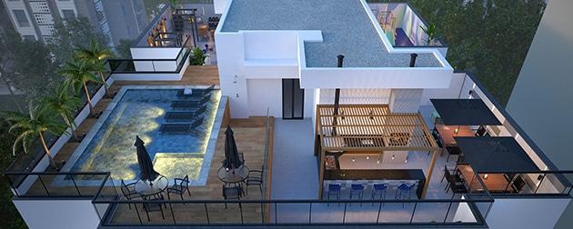 Quinta da Baronesa Home Boutique - Apartamentos 3 Quartos na Tijuca. Localizado num bairro repleto de facilidades e mobilidade, com a perfeita combinação do design, lifestyle e exclusividade