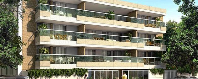 Varandas do Barão - Apartamentos de 3 e 2 quartos com dependências completas à venda em Botafogo, Rua Dezenove de Fevereiro, Rio de Janeiro - RJ.